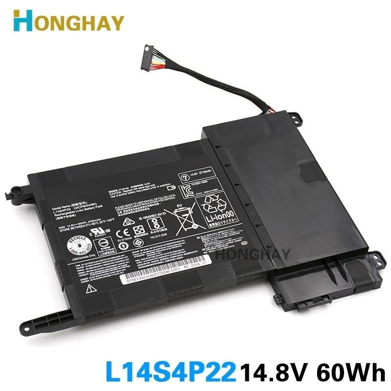 HONGHAY L14S4P22 bateria Do Laptop Original Para Lenovo IdeaPad Y700 Y700-17iSK Y700-15ISK 5B10H22084 L14M4P23 14.8V 60wh 4050mAh
