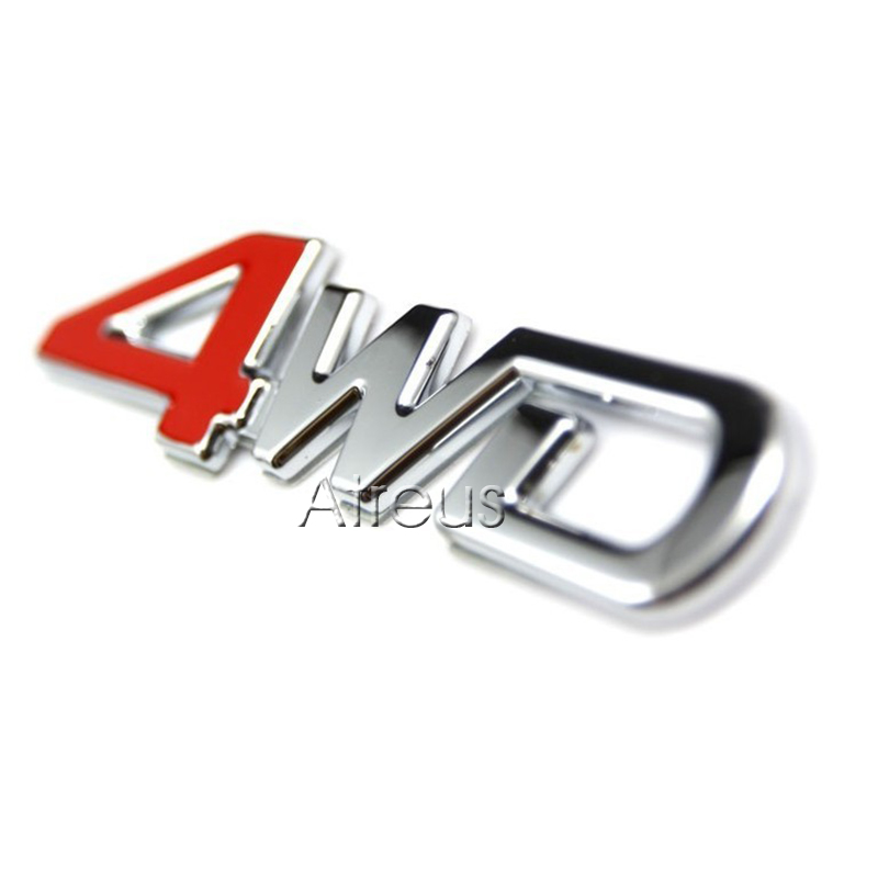 3D 4WD 4x4 Metal Sticker For Chery Tiggo Infiniti <font><b>Volvo</b></font> XC60 <font><b>XC90</b></font> S60 S80 V70 S40 Honda CRV Accord Fit Civic <font><b>Accessories</b></font> <font><b>2016</b></font> image