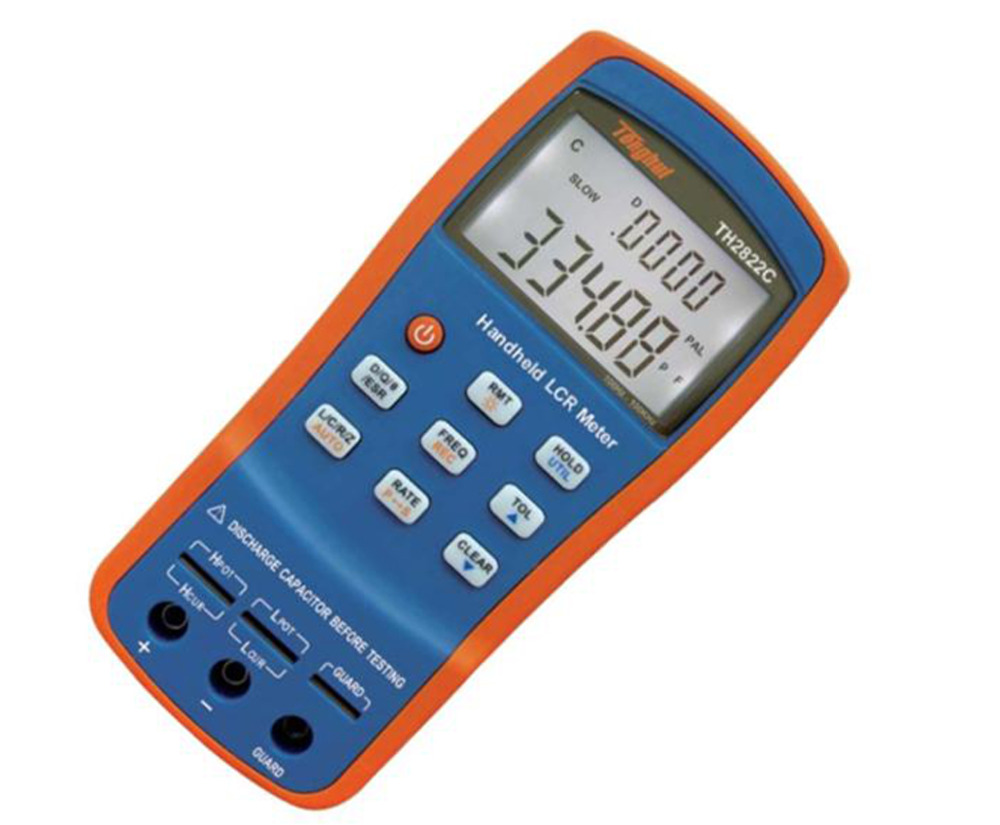 Handheld LCR Digital Bridge Meter Inductance Capacitance Resistance LCR QZD ESR DEG Tester 100KHz USB TH2822C lcr handheld 10khz digital bridge portable resistance inductance capacitance meter lq 9101 parallel pocket meter