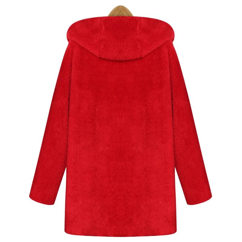 Veste Modèles Femmes Manches D'hiver Sijane À Peluche De Mode Chaud Longues 0182 En face red souris Chauve Double Capuche Black wanSXWqZn