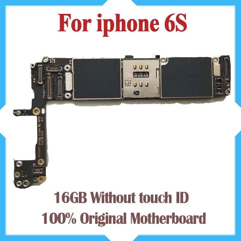 16 ГБ с Полный открыл для iphone 6S материнская плата без Touch ID, 100% оригинал для iphone 6S Logic доски с IOS Системы