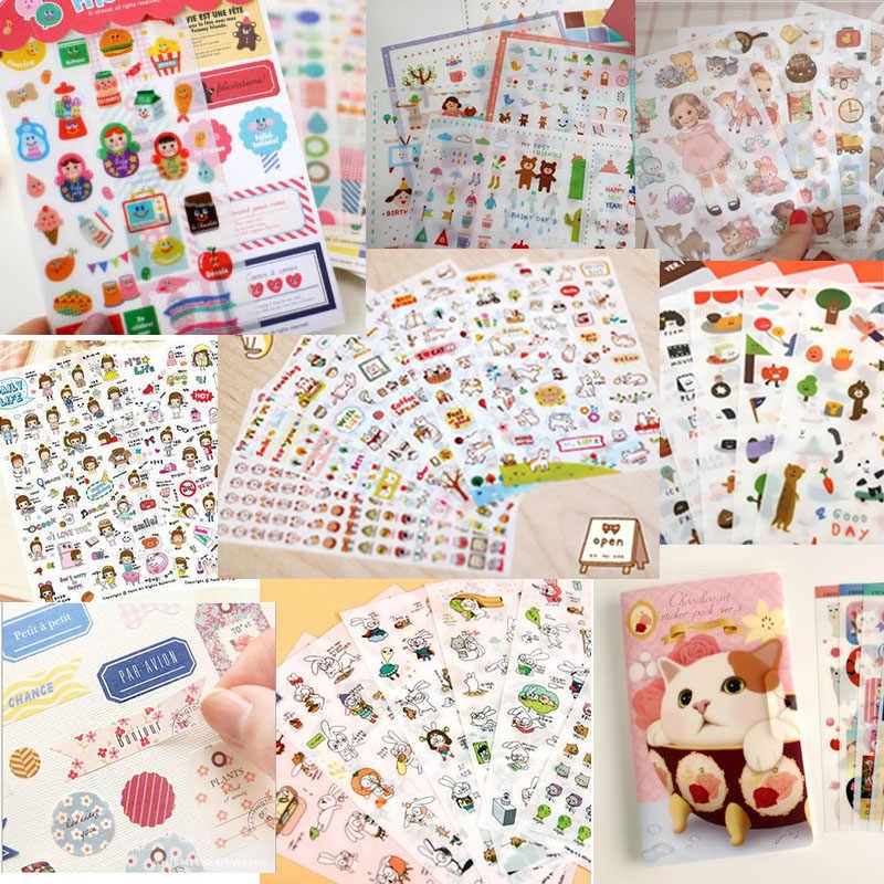 Linda papelería 6 hojas/1 set kawaii Deco Cat Girl scrapbooking planificador pegatinas/notas adhesivas/filofax/papeleria/suministros de oficina