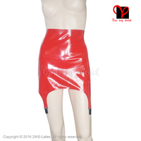 Sexy Red Latex garters Elastic Rubber suspender Stockings belt Clip XXXL Gummi Braces Tights High straps girdle plus DWD 003