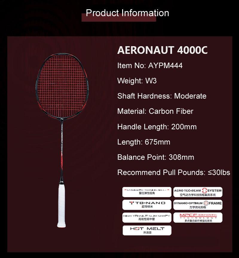 Li-Ning Aeronaut 4000B badminton rackets