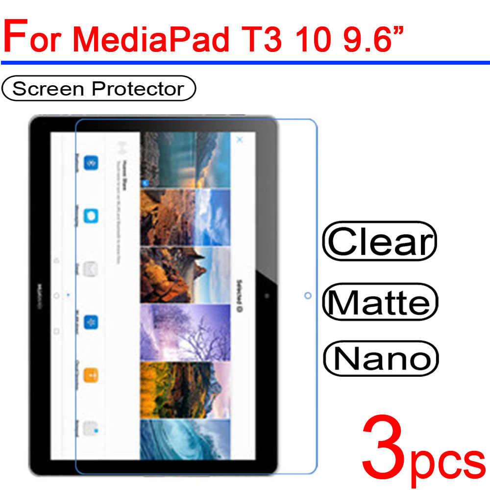 3 Pcs Ultra Bening Lembut LCD Layar Pelindung Film Guard Cover untuk Huawei Media Pad T3 10 7.0 8.0 3G wifi Tablet Film Pelindung