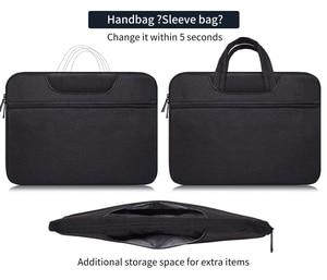 Image 4 - حقيبة لابتوب كم 13 13.3 14 14.1 15 15.4 15.6 بوصة دفتر شنطة لحمل macbook الهواء برو 13 15 Dell Asus HP أيسر حقيبة يد