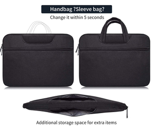 Image 4 - Laptop Bag Sleeve 13 13.3 14 14.1 15 15.4 15.6 Inch Notebook Tas Voor Macbook Air Pro 13 15 Dell asus Hp Acer Aktetas Handtas