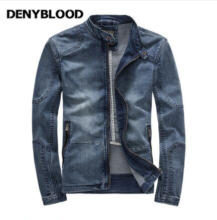 Retro Classic Jeans Uomo Giacca Di Denyblood Nuovo Autunno EHWD29IY