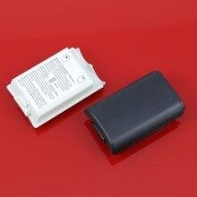 3000 pcs lotes Ajyouk Black & white Bateria Tampa Do Caso Shell Para Xbox 360/xbox360 Wireless Controller Bateria Recarregável