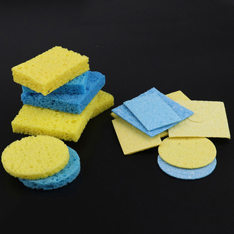 5pcs Solder Iron Tip Welding Cleaning Pads Universal Soldering Iron Replacement Rectangle Sponges