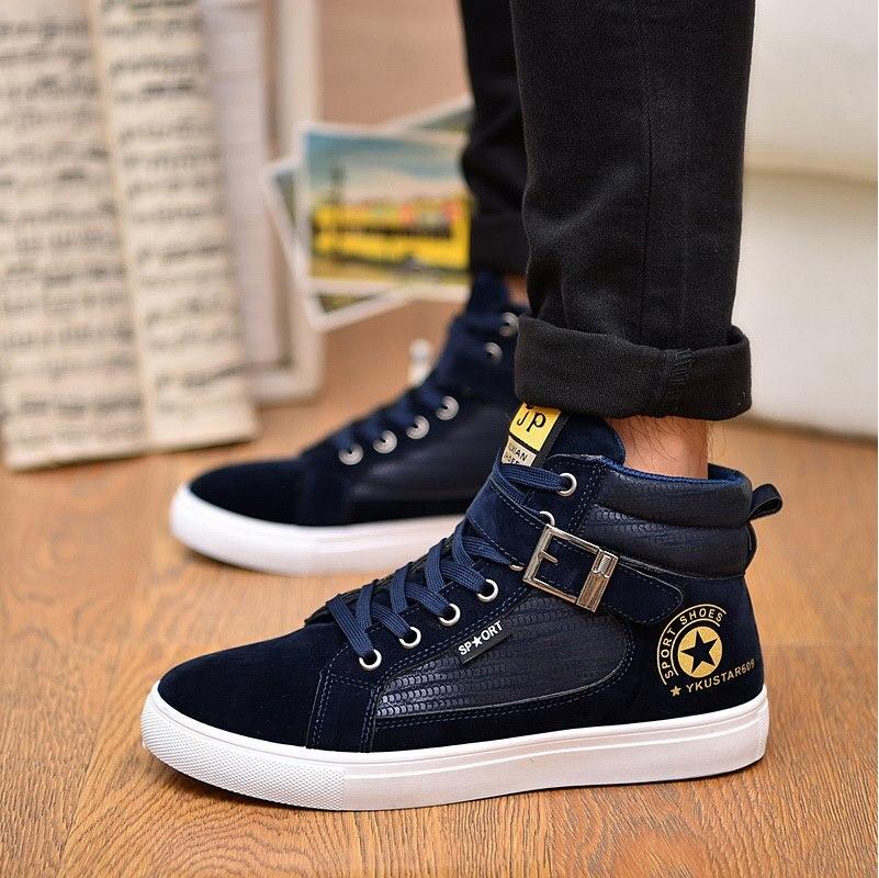 Hommes Casual Troupeau Hot Nouveau Maleyk609 Chaussures bleu Haute Noir Pour Mode 2018 tops qE88f