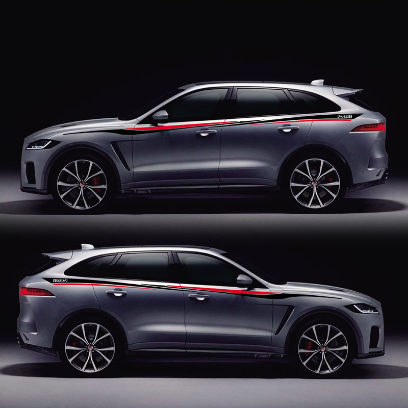 TAIYAO car styling sport car sticker car accessories for Jaguar F-PACE E-PACE Sport Both Side Sticker Car-styling