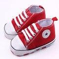 Sapatas de lona estrela de cinco pontas-padrão de renda da criança shoes meninos e meninas aprendendo primeiros walking shoes fundo macio xz69