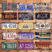 アメリカ車のプレート番号バー装飾米国ナンバープレートガレージプラークメタルヴィンテージ家の装飾 15 × 30 センチメートル C9