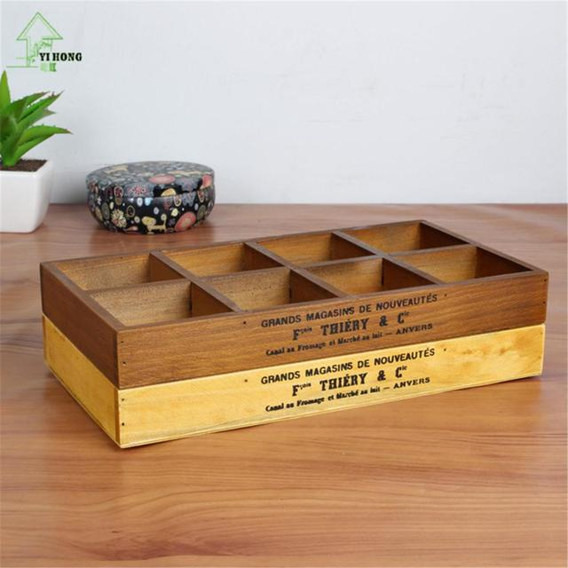 YI HONG Wooden Storage Box Wooden Organizer Wood Boxes Antique Retro Jewellery Candy Storage Container Cases & YI HONG Wooden Storage Box Wooden Organizer Wood Boxes Antique Retro ...