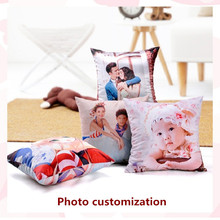 Custom DIY photo Pillow Cover Vintage European  Pattern Cushion Home Decorative marry Case 40x40cm