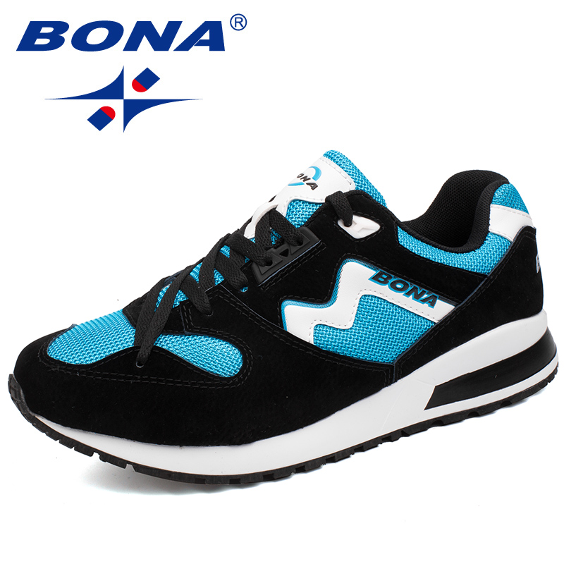 BONA New Arrival Popular Style Men Running Shoes Breathable Lace Up Outdoor Walking jogging Shoes Comfortable Free Fast Shipping nike original new arrival mens skateboarding shoes breathable comfortable for men 902807 001