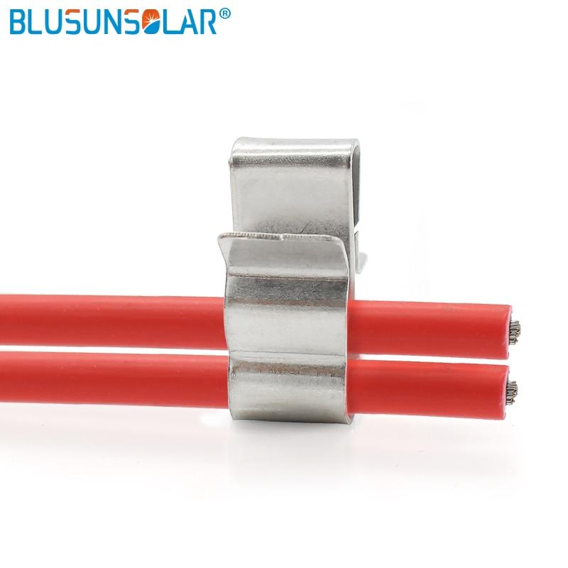500 pces de alta qualidade 1 5mm 2 0mm sus304 material solar pv fio clipes de