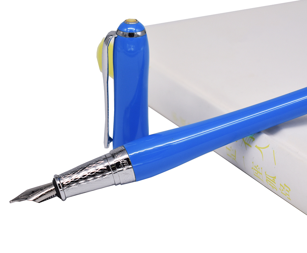 Duke Elegant Fountain Pen Classic Medium Nib Writing Gift Pen , Blue Color Business Office Home Supplies gift n home