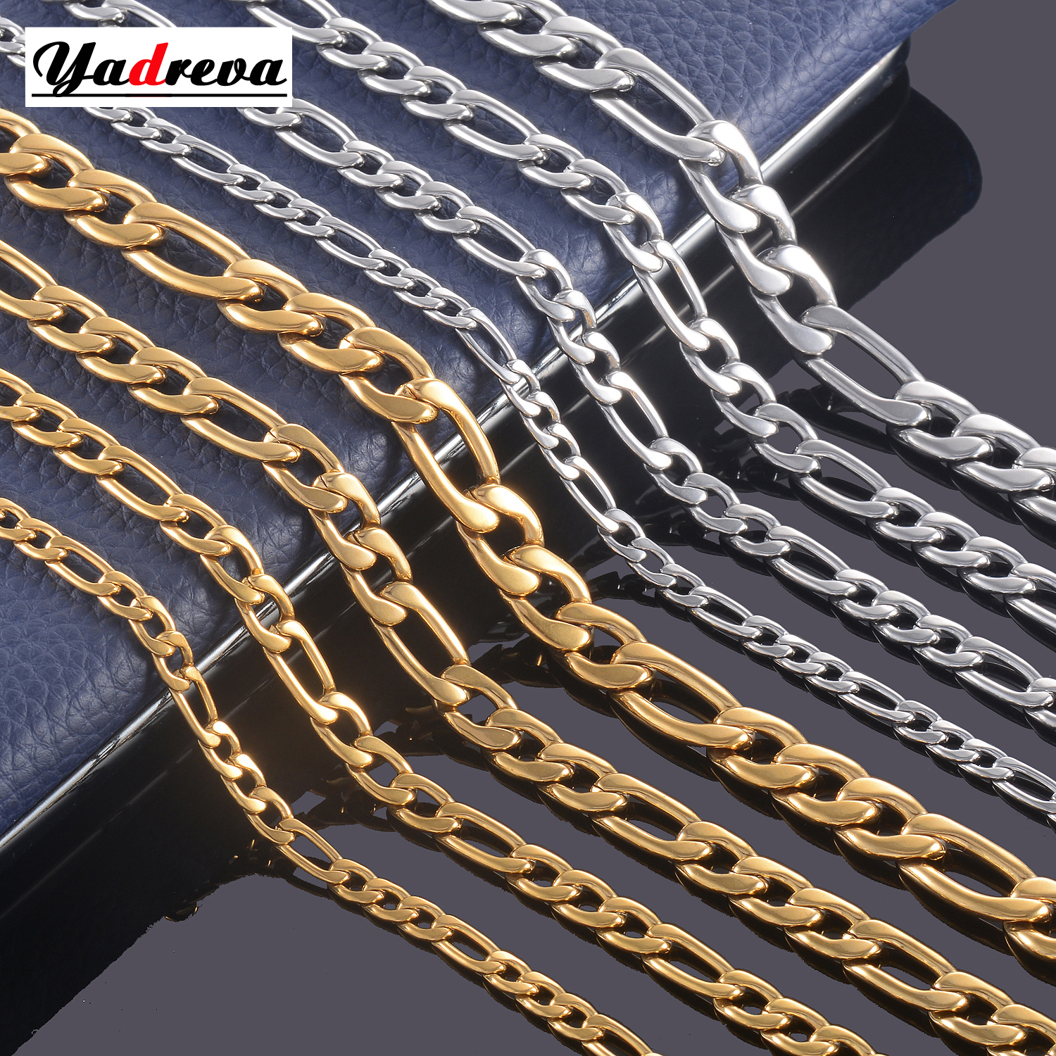 Figaro Chain Jewelry Stainless-Steel Silver Formen Can-Be-Customized And 3mm-11.5mm