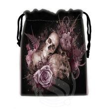 Fashion Design Custom skull#5 drawstring bags for mobile phone tablet PC packaging Gift Bags18X22cm SQ00715-@H0346