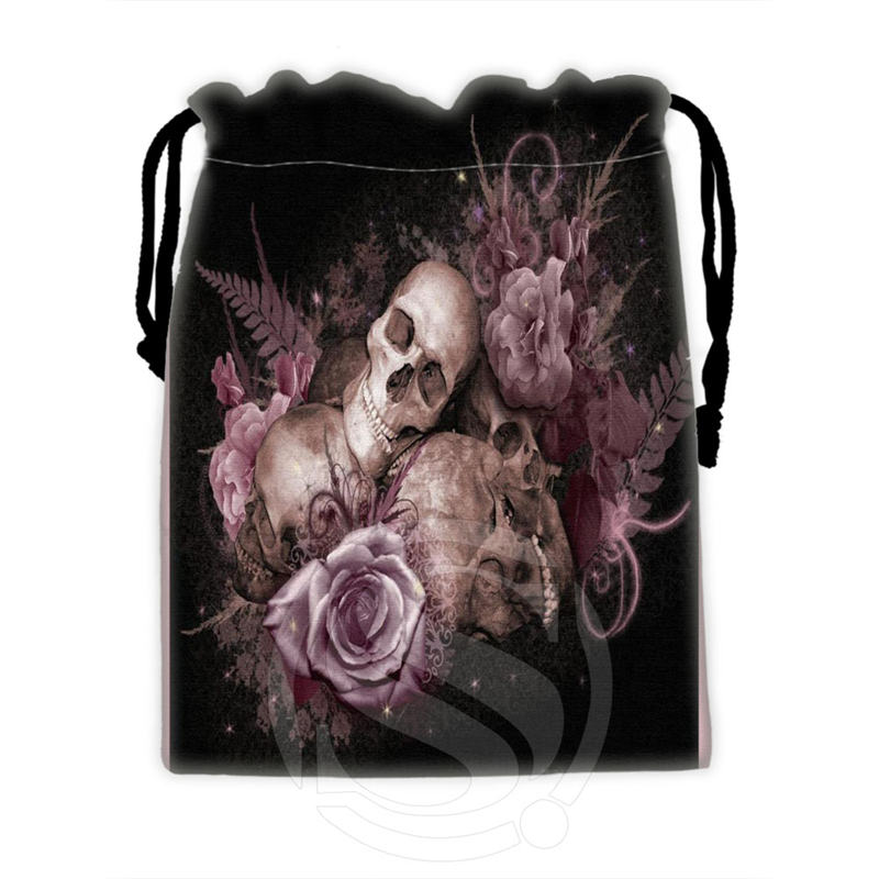 Fashion Design Custom Skull #5 Drawstring Bags For Mobile Phone Tablet PC Packaging Gift Bags18X22cm SQ00715-@H0346