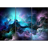 3pcs Diy Diamond Painting Abstract Psychedelic Nebula Space Mosaic Painting Home Decoration Hand Work With Diamond