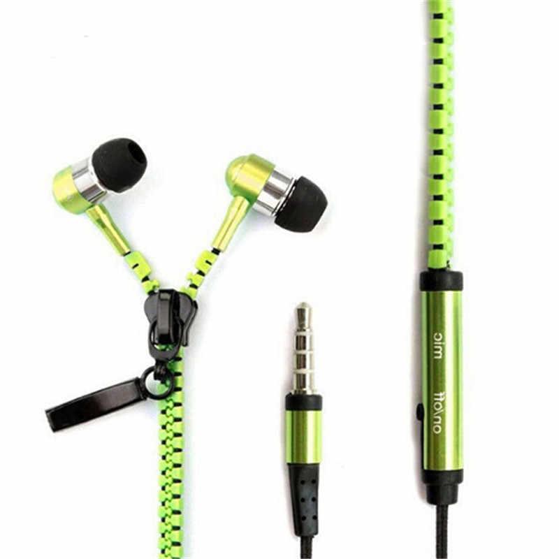Metalowe słuchawki 3.5mm douszne zestaw słuchawkowy stereo muzyka Sport słuchawki douszne z mikrofonem do MP3 iPhone Xiaomi VS słuchawki Bluetooth S6 S8