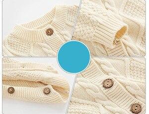 Image 2 - Orangemom mode stricken overall + caps für mädchen baby weihnachten kleidung unisex neue jahr geschenk neugeborenen baby body twins