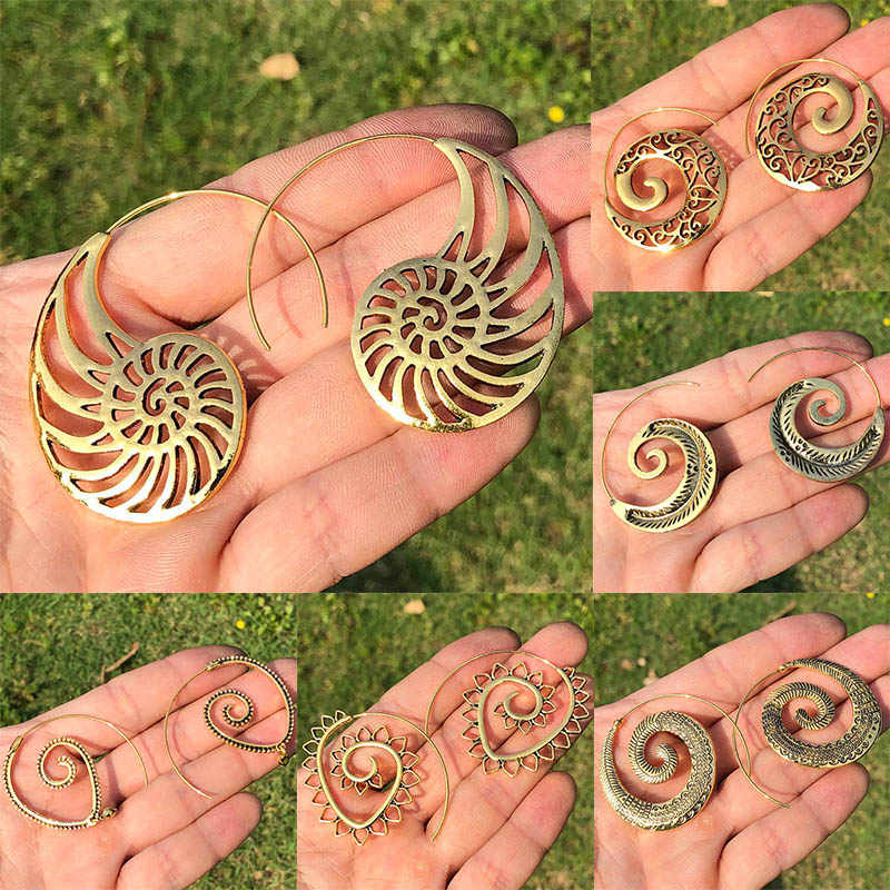 20 stile Indian Tribal Messing Ohrring Baumeln Ohrring Blume Verzierten Swirl Gypsy Ohrring Für Frauen Boho Vintage Ohrring 19412