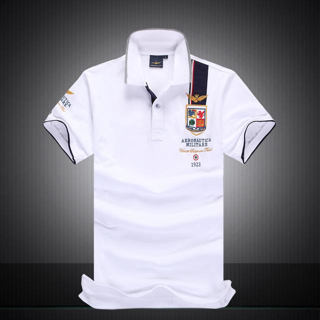 Marca POLO Camisa de Los Hombres de Algodón Tops Corta Aeronautica Ocasional aeronautica militare Air Force One nuevo hombre polo polo