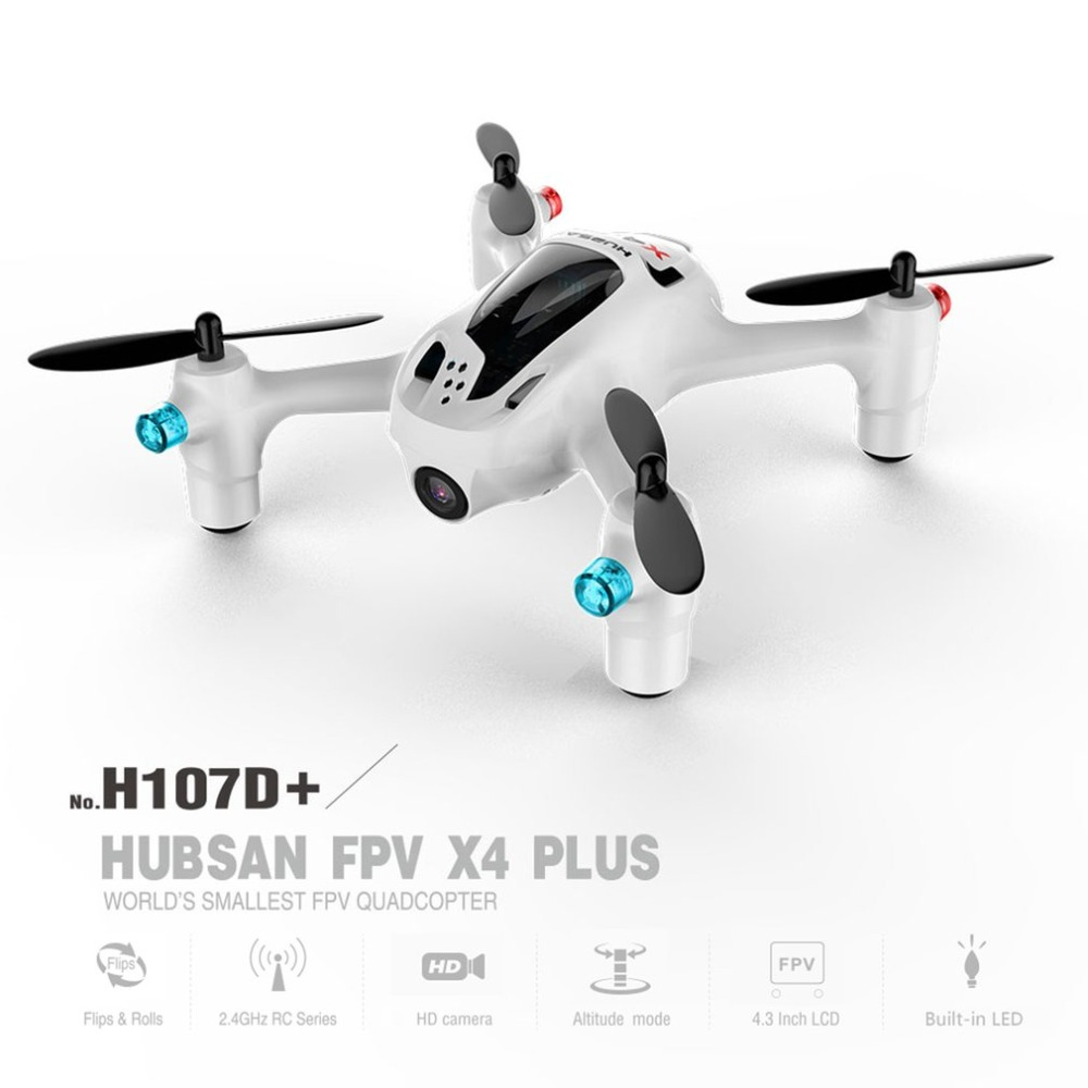 Hubsan X4 H107D+ 2.4GHz 4CH 6-axis Gyro Drone 5.8G FPV 1080P FHD Camera RTF RC Quadcopter With Altitude Hold Headless Mode syma x14w fpv drone with built in camera hd live video headless mode 2 4g 4ch 6 axis gyro rc quadcopter with altitude hold