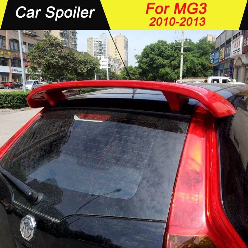 Pour MG 3 2010 2011 2012 2013 aileron arrière de haute qualité matériau ABS décoration d'aile arrière de voiture couleur aileron de coffre pour MG3