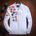Spring New Mens Bomber Army Tactical Jackets Off White Military Embroidery Windbreaker Aeronautica Militare Chaqueta Hombre