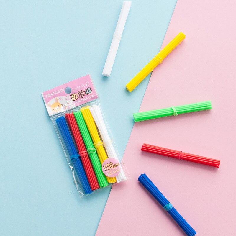 Ausdrucksvoll 100 Teile/paket Kleine Stangen Für Counting Anzahl Kinder Mathematik Arithmetik Kindergarten Früherziehung Zähler