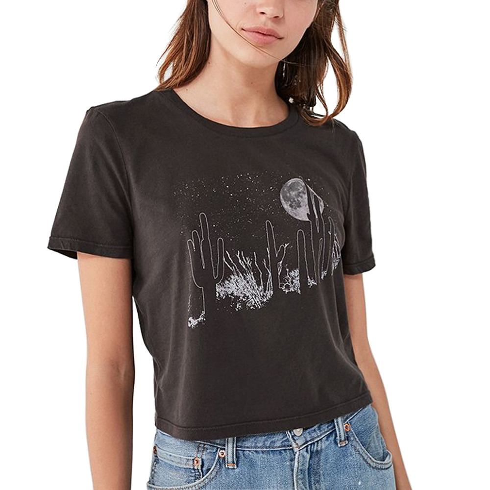 Desert T Shirt Women Summer Black Gothic Aesthetic Egirl Ulzzang Feminist Grunge Vegan Friends Tumblr Vintage Crop Top Plus Size