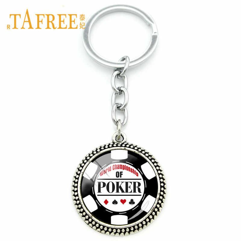 TAFREE Мода покер карты брелок клуб личность покерный брелок брелоки лучший подарок автомобиль ключевые очарование оптовая PO15