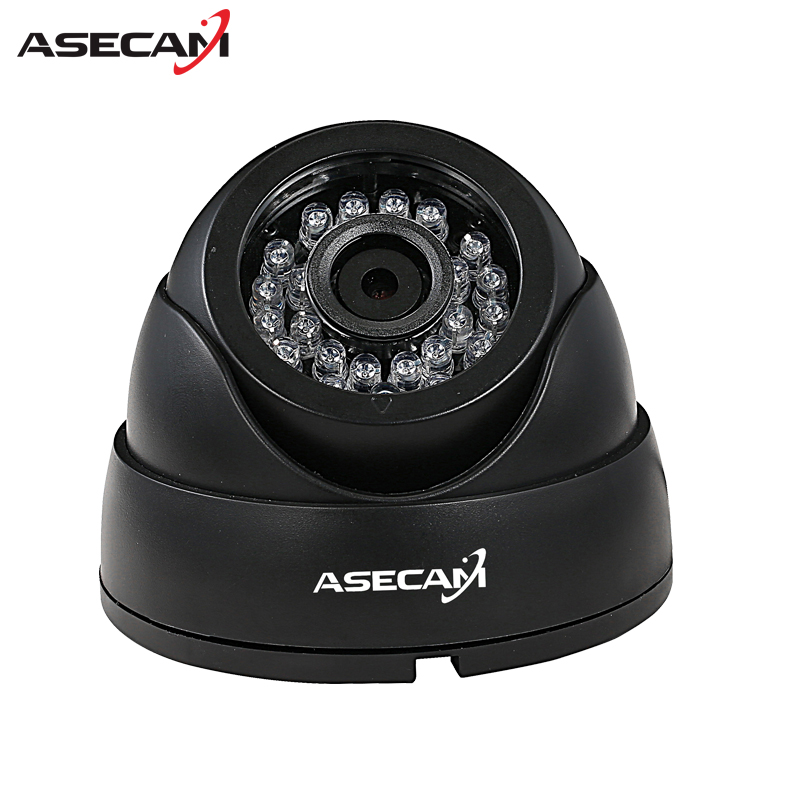 New HD IP Camera 1080P Security Small indoor Black Mini Dome Surveillance Camera CCTV IR Night Vision Onvif WebCam ipcam new hd ip camera 1080p hi3516c dsp security home white mini dome video surveillance cctv array ir night vision onvif p2p webcam