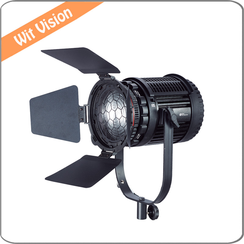 100W LED Focusable Fresnel Spotlight Dimmable with 2.4G Wireless Dimming DMX Control