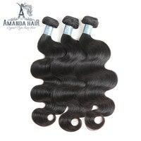 Аманда натуральная волос Средства ухода за кожей волна Связки 4 шт./упак. мягкий бразильский человеческих Химическое наращивание волос нату