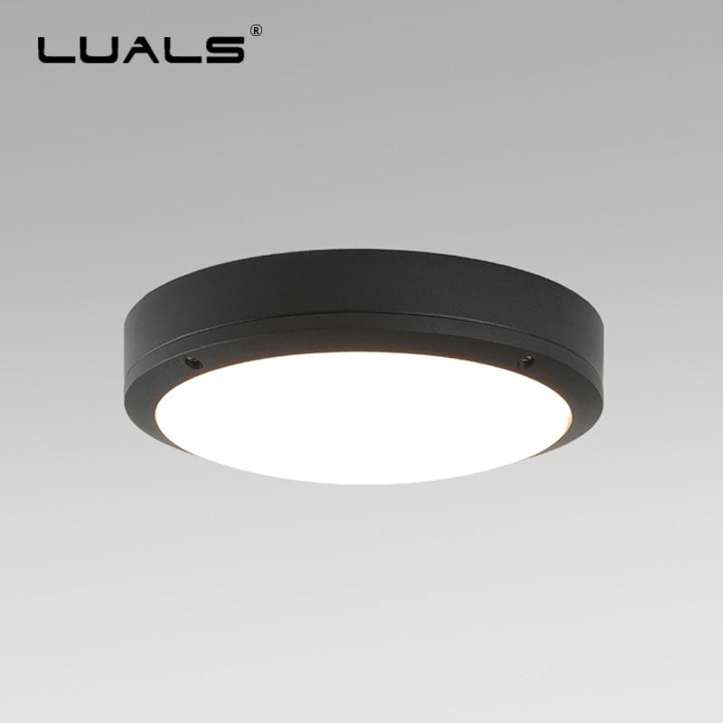 Moderne Plafond Lumières En Plein Air Étanche Plafond Lampe LED D'éclairage En Aluminium corps de Lumière Plafond Lampes Terrasse LED Luminaire