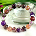 High Quality Natural Genuine Multi Colors Mix Super Seven 7 Finish Stretch Bracelet Round Beads Melody Stone 10mm 03727