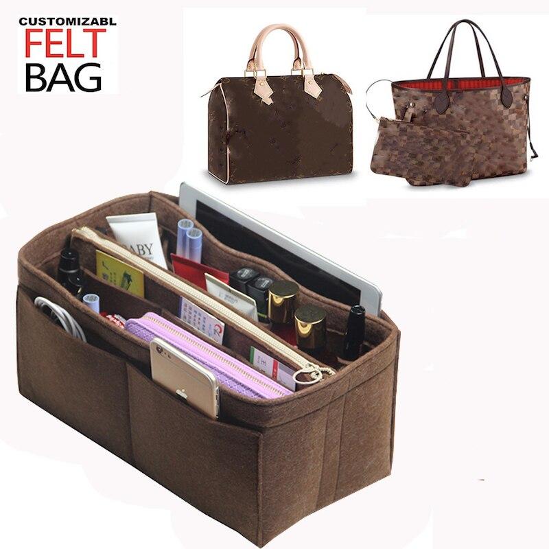 Passt Neverfull MM GM PM Speedy 25 30 35 40 Anpassbare Fühlte Geldbörse Veranstalter Tasche in Tasche Legen Bag Organizer tote Windel Handtasche