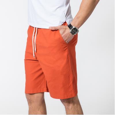 Мужские летние плюс Размеры эластичный пояс середине Повседневное Капри прямого кроя человек дышащий Лен свободные штаны Для мужчин более Размеры d обтягивающие брюки - Цвет: 8