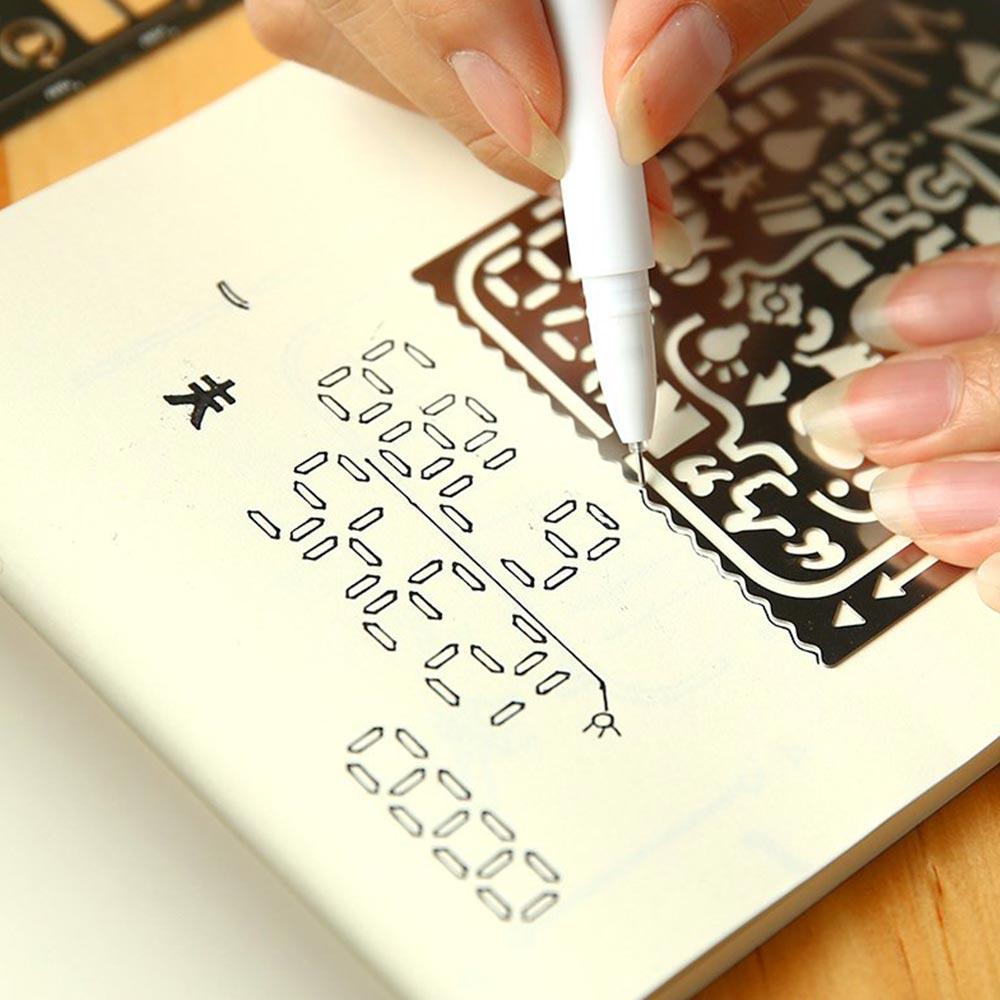 Hollow Metal Ruler Craft Dies Drawing Template Ruler Scrapbooking  Metal Travel Diary Notebook Diy Tool Template Decoration