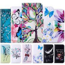Phone-Cover Motorola Moto Capa Flip-Case Plus for G6 Wallet Fundas D07Z Flowers Tree