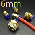 6mm Neumático de empuje de montaje en conector de unión rápida pc6-m5 pc6-01 pc6-02 pc6-03 pc6-04 aire rápida conector 5 UNIDS