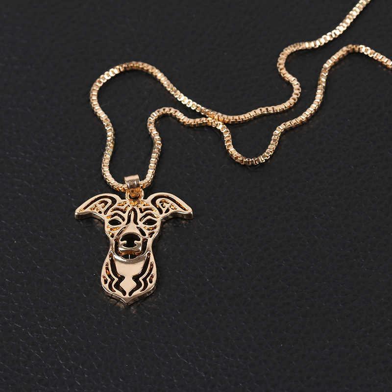 Drop Shipping vintage róża złoty pies wisiorki naszyjnik Anime Choker kobiety mężczyźni biżuteria najlepszy przyjaciel świąteczne prezenty