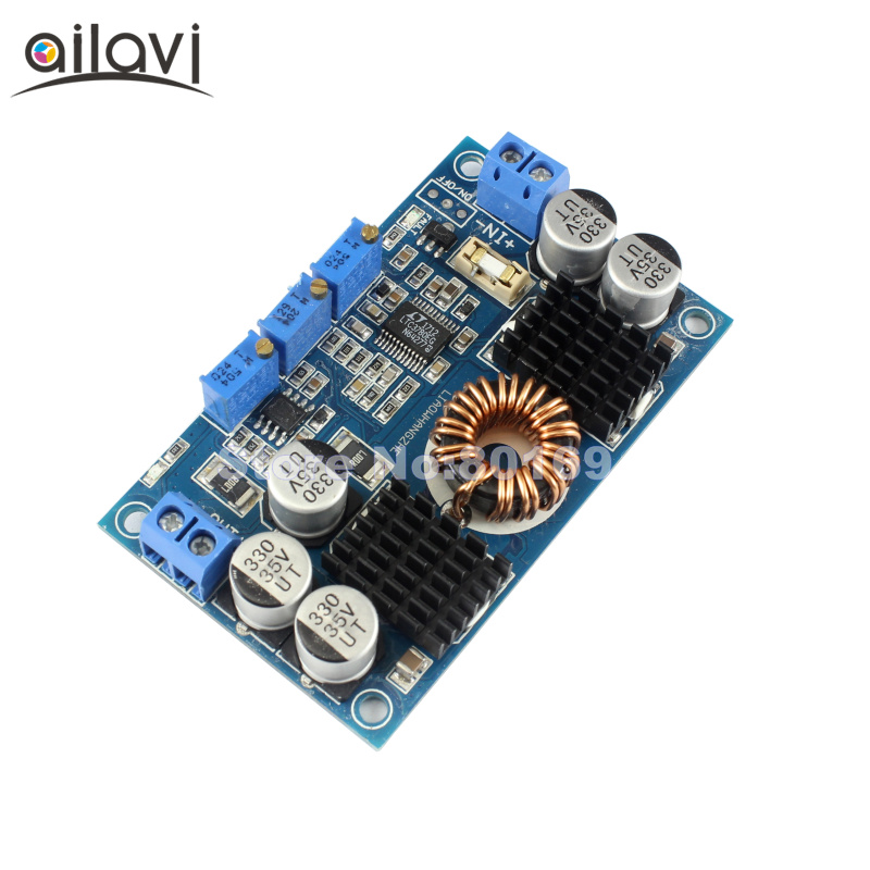 DC Automatic Step Up/Down Regulator 5V-32V 12V24V to 1-30V 10A Constant Current Voltage Boost Buck Converter LTC3780 Module 1pc ltc3780 constant voltage current power supply step up down automatic pressure lifting module dc5 32v