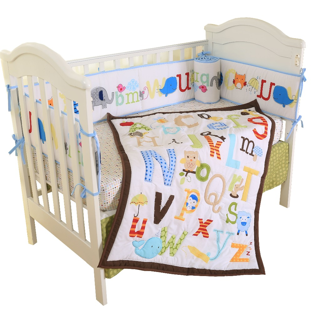 Ensemble de literie lit bébé doux linge de lit en coton respirant pour les enfants